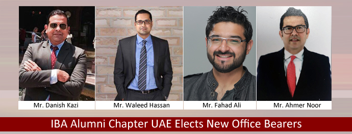 IBA Alumni Chapter UAE Elects New Office Bearers