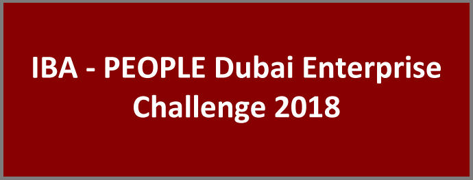 IBA - PEOPLE Dubai Enterprise Challenge 2018