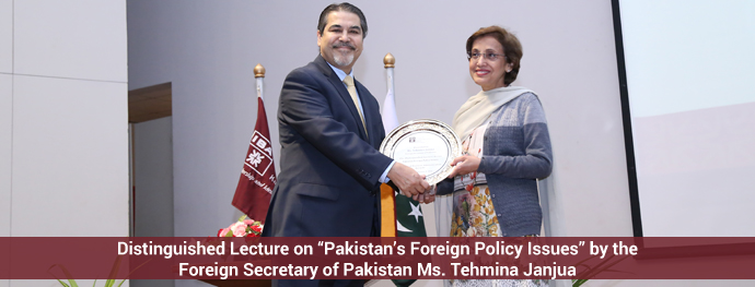 Pakistan's Foreign Policy Issues by the Foreign Secretary of Pakistan Ms. Tehmina Janjua
