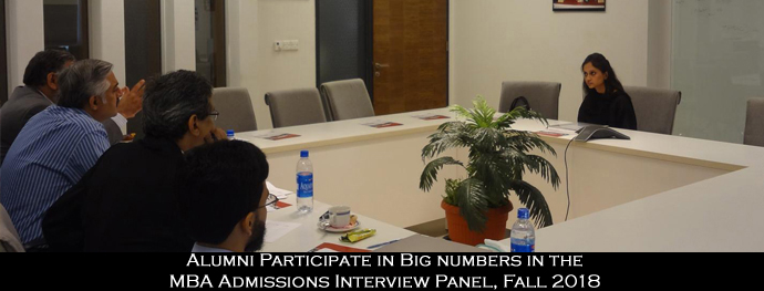Alumni Participate in Big numbers in the MBA Admissions Interview Panel, Fall 2018