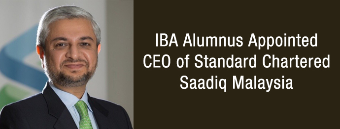 IBA Alumnus Appointed CEO of Standard Chartered Saadiq Malaysia
