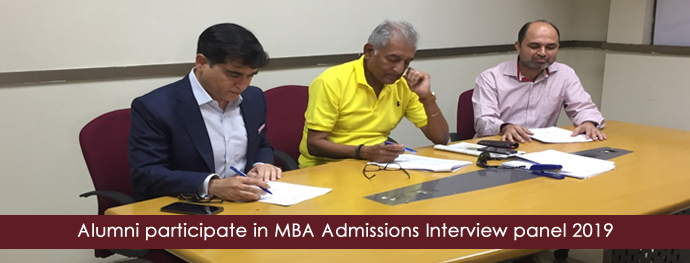 Alumni participate in MBA Admissions Interview panel 2019