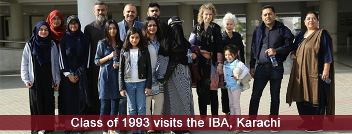 Class of 1993 visits the IBA, Karachi