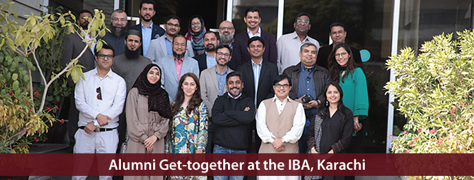 Alumni Get-together at the IBA, Karachi