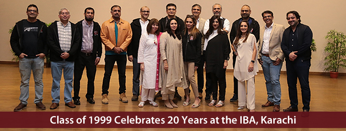 Class of 1999 Celebrates 20 Years at the IBA, Karachi