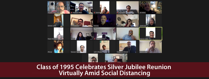 Class of 1995 Celebrates Silver Jubilee Reunion Virtually Amid Social Distancing
